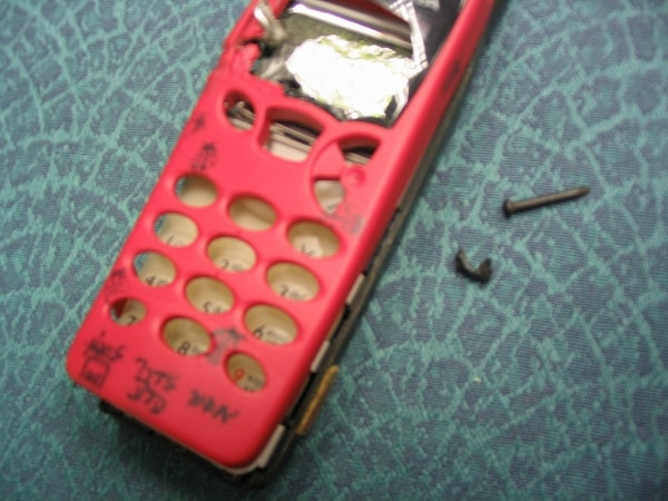 Malki's phone after bombing.