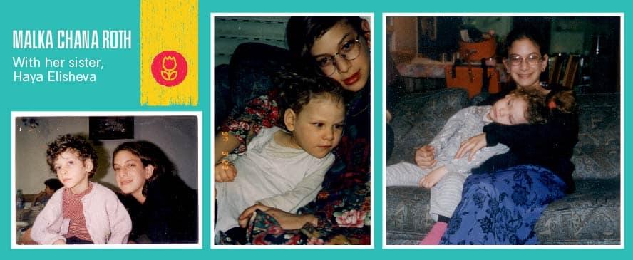 With her sister Haya Elisheva