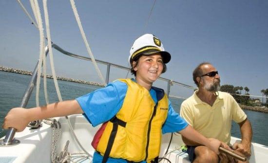 Boy in sailboat