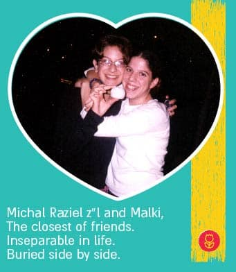 Michal Raziel zl and malki, the closest of friends. inseparable in life. burried side by side.