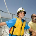 Boy in sailboat