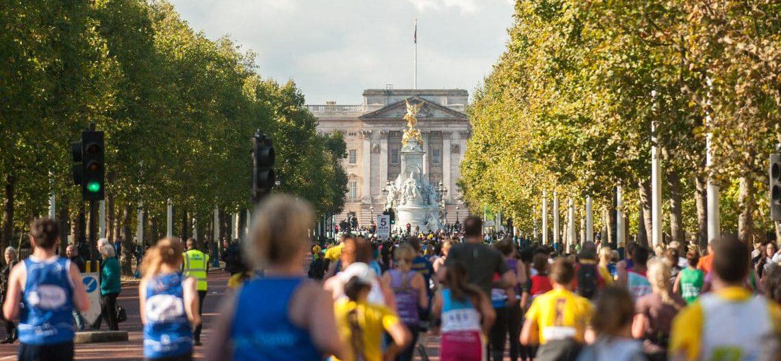 Runners in half marathon