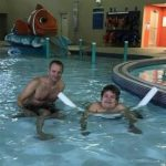 Spina Bifida child doing Hydrotherapy